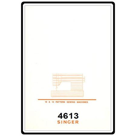 Instruction Manual, Singer 4613