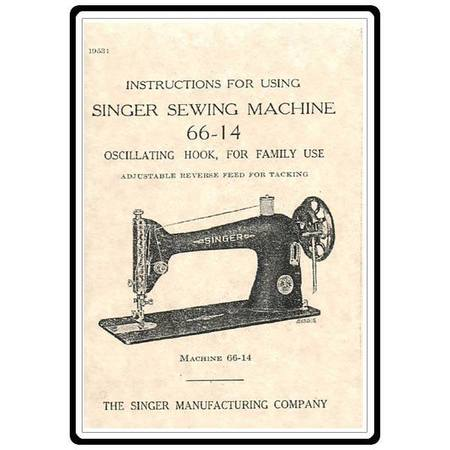 Instruction Manual, Singer 66-14