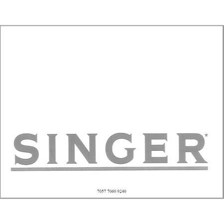 Instruction Manual, Singer 7060