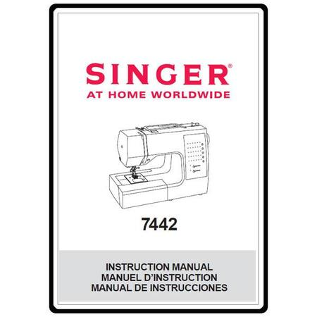 Instruction Manual, Singer 7442