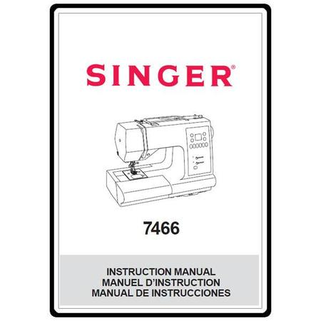 Instruction Manual, Singer 7466