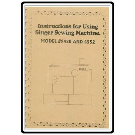 Instruction Manual, Singer 9408