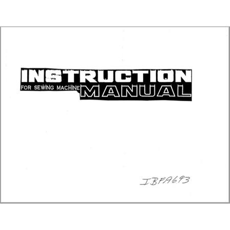 Instruction Manual, Simplicity SL6620