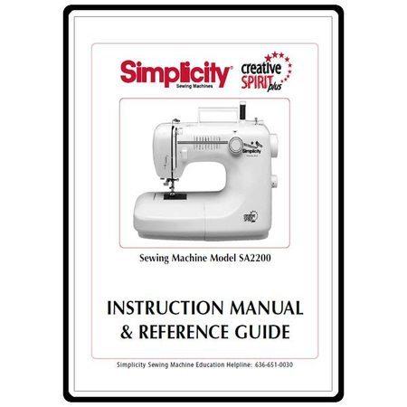Instruction Manual, Simplicity SA2200