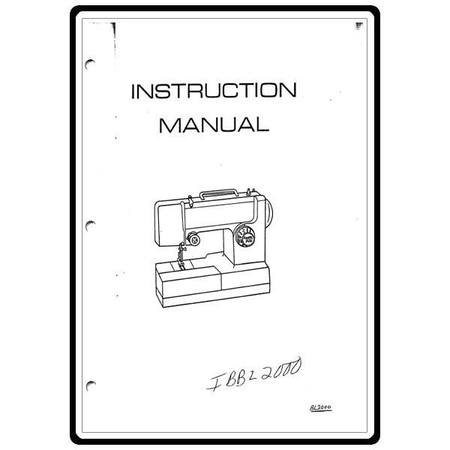 Instruction Manual, Simplicity SL1000