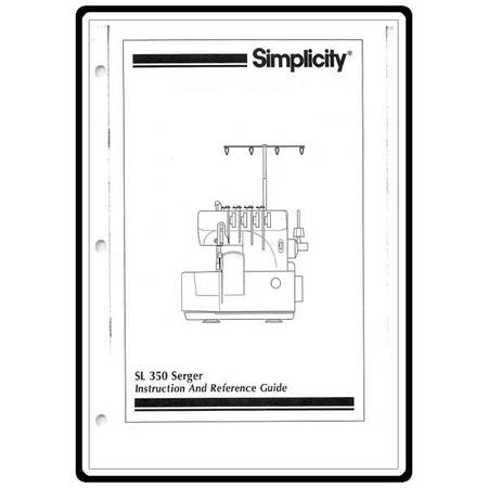 Instruction Manual, Simplicity SL350