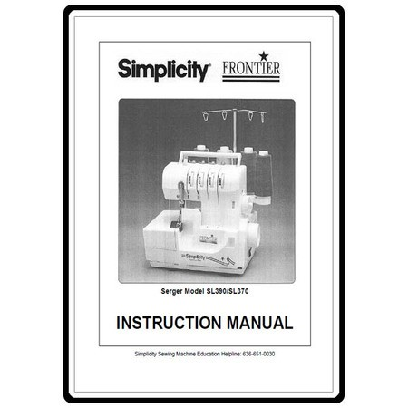 Instruction Manual, Simplicity SL390
