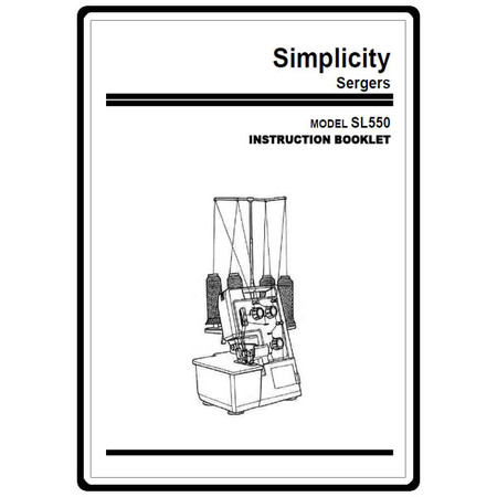 Instruction Manual, Simplicity SL550