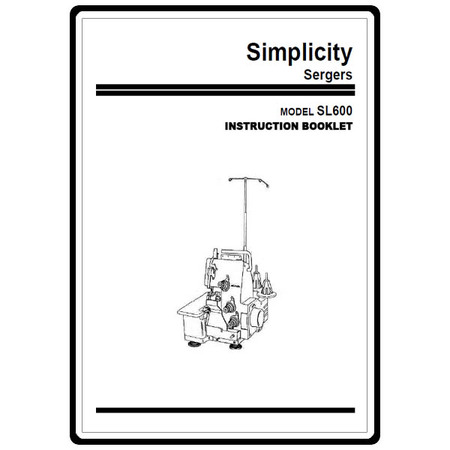 Instruction Manual, Simplicity SL600