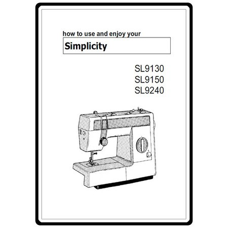 Instruction Manual, Simplicity SL9130