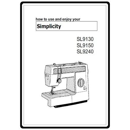 Instruction Manual, Simplicity SL9150