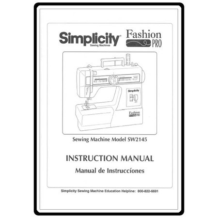 Instruction Manual, Simplicity SW2145