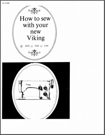 Instruction Manual, Viking 3310