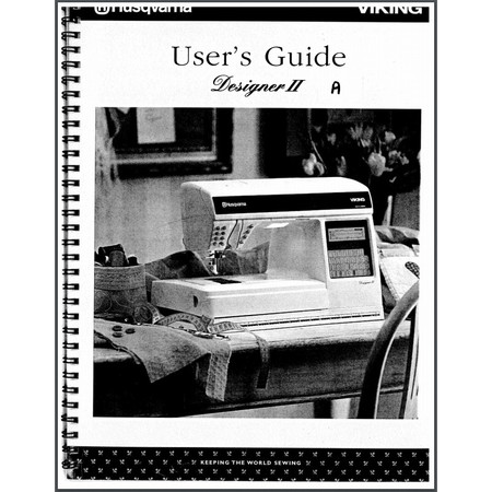 Instruction Manual, Viking Designer II