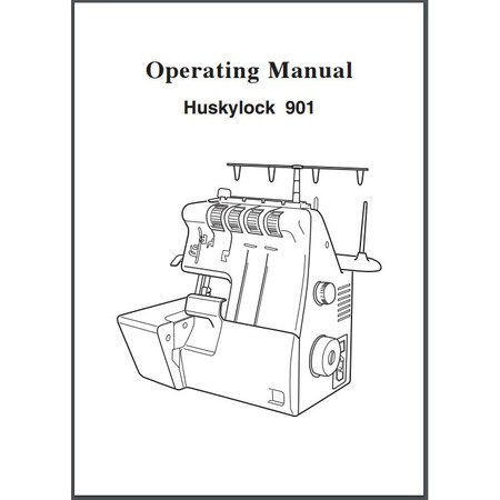 Instruction Manual, Viking Huskylock 901