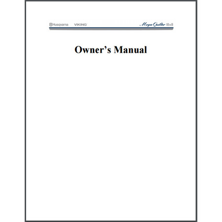 Instruction Manual, Viking Mega Quilter 18x8 : Sewing Parts Online