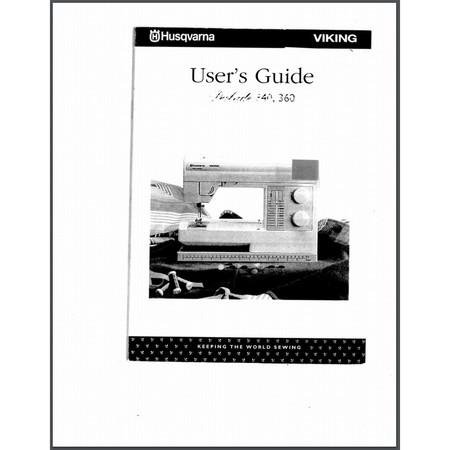 Instruction Manual, Viking Prelude 360
