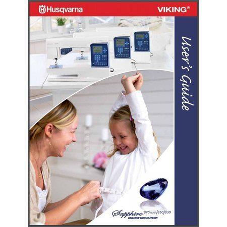 Instruction Manual, Viking Sapphire 830