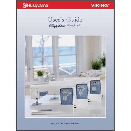 Instruction Manual, Viking Sapphire 835
