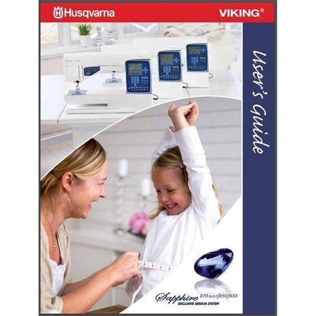 Instruction Manual, Viking Sapphire 870 Quilt