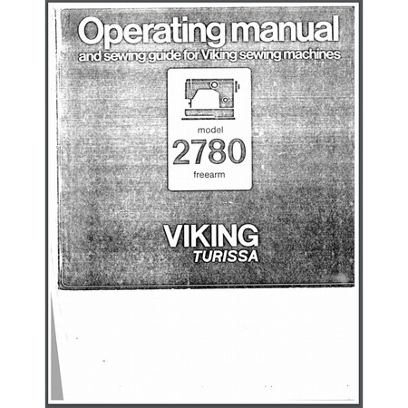 Instruction Manual, Viking Turissa 2780