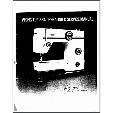 Instruction Manual, Viking Turissa 2840