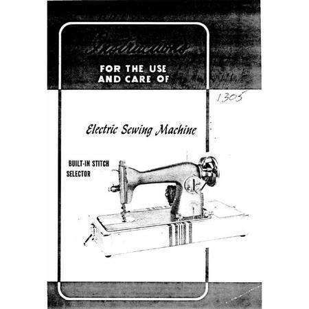 Instruction Manual, White 1305