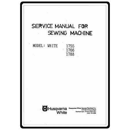 Service Manual, White 1755