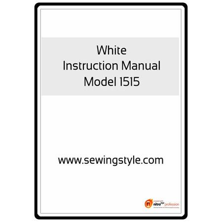 Instruction Manual, White 1515