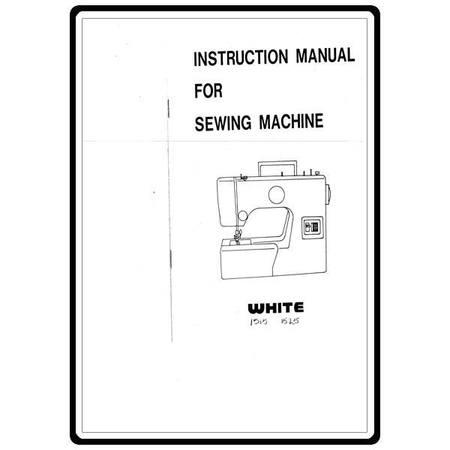 Instruction Manual, White 1525