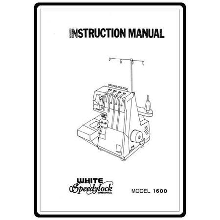 Instruction Manual, White 1600