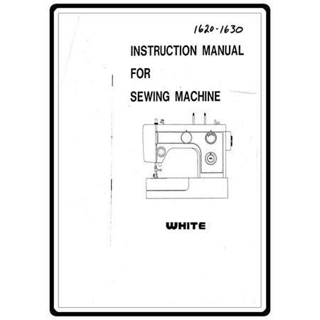 Instruction Manual, White 1620
