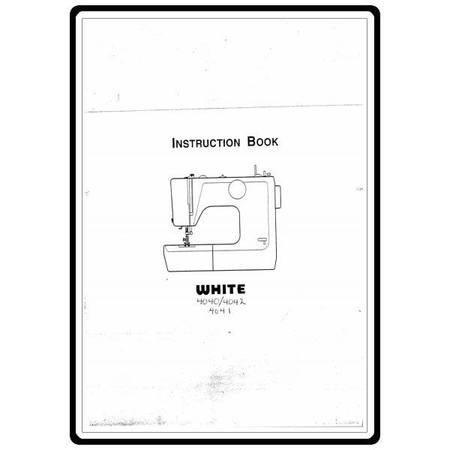 Instruction Manual, White 4041
