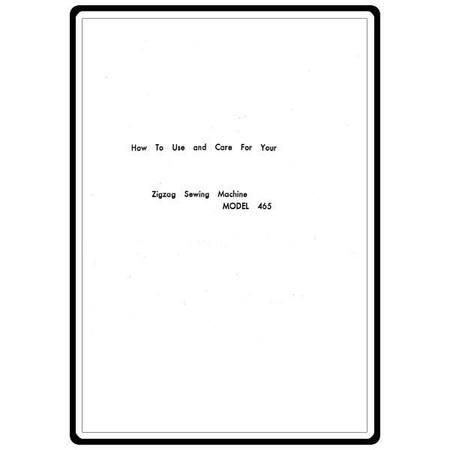 Instruction Manual, White 465