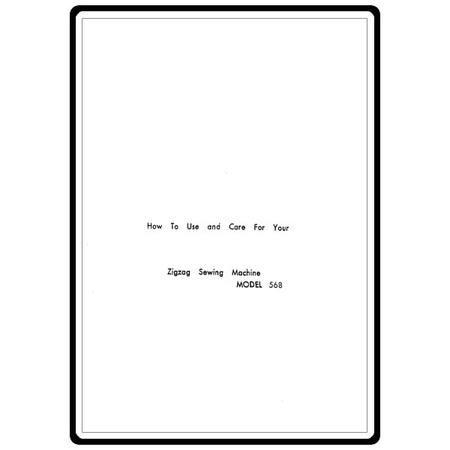 Instruction Manual, White 568