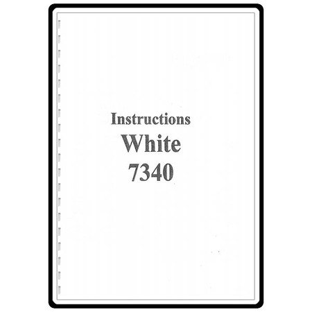Instruction Manual, White 7340