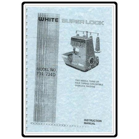 Instruction Manual, White 734D