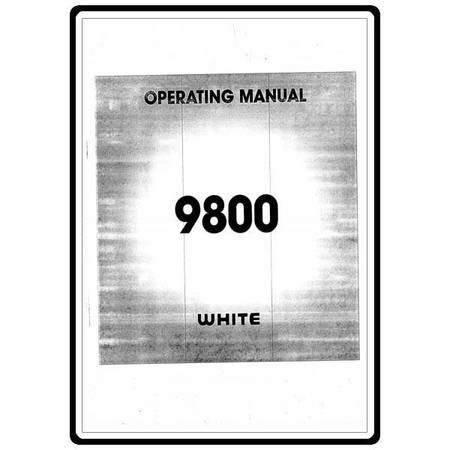Instruction Manual, White 9800