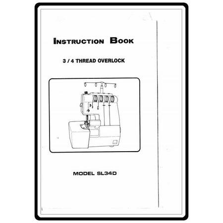 Instruction Manual, White SL34D
