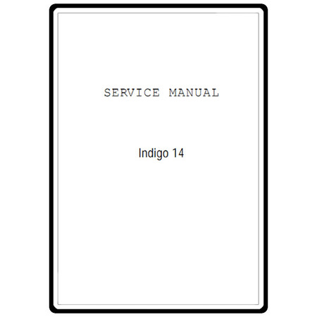 Service Manual, Janome Indigo 2014