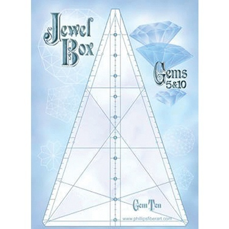 Jewel Box 10/5 Gem Triangle Ruler Set