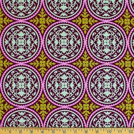 Joel Dewberry, Aviary 2, Scrollwork, Plum Fabric