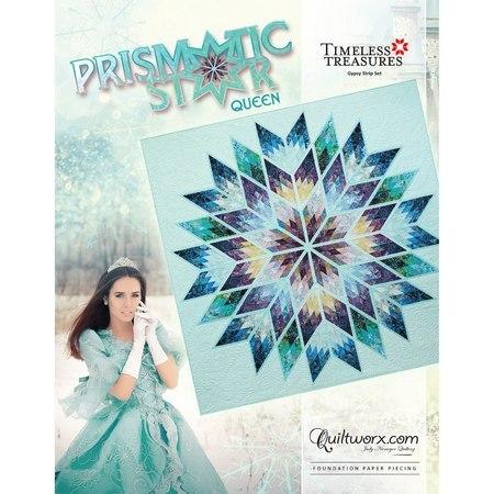 Prismatic Star Quilt Pattern - Queen Size