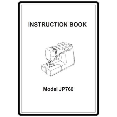 Instruction Manual, Janome JP720 Jem Platinum