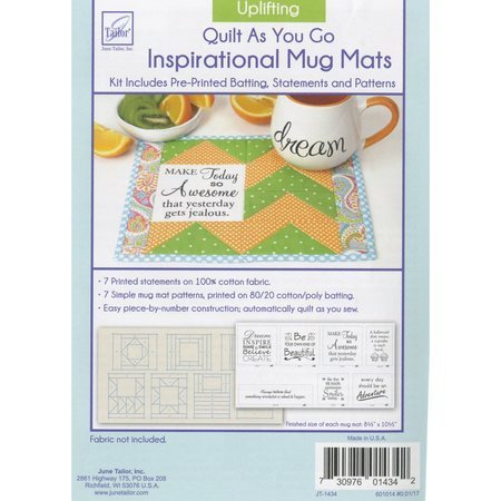 Inspirational Mug Mat Pattern, Uplifting, June Tailor