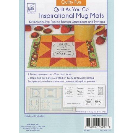 Inspirational Mug Mat Pattern, Quilty Fun, June Tailor
