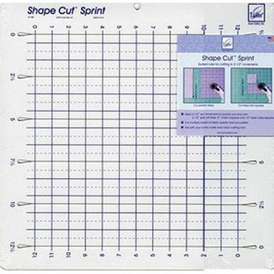 "Shape Cut Sprint Ruler 12""X12"", June Tailor"