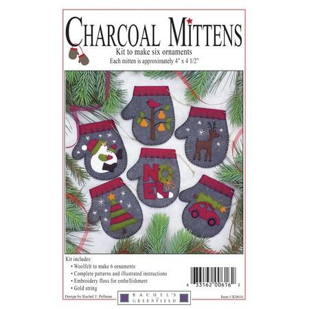 Charcoal Mittens Ornament Kit