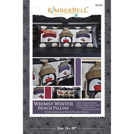 Whimsy Winter Bench Pillow Pattern, KimberBell Designs
