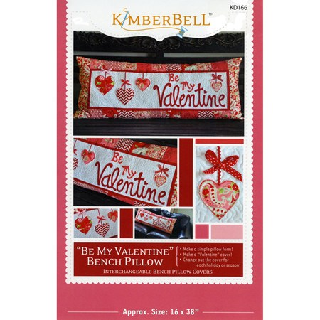 Be My Valentine Bench Pillow Pattern, KimberBell Designs